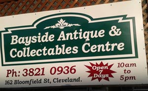 Bayside Antiques sign